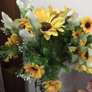 Artificial Flower sunflower gift pot