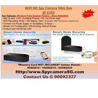 SPY CAMERA BLACK BOX WITH ROTATING LEN WITH RECORDING FUNCTIONS  & WIFI BASED