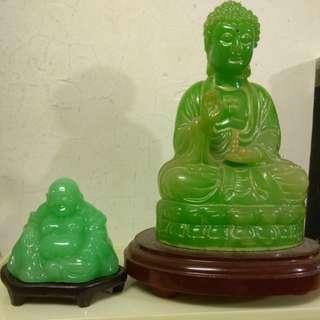 佛像擺設兩個