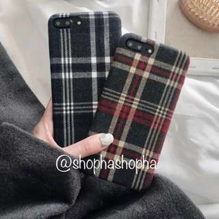 秋冬復古格仔電話殼 手機殼 winter phone case 硬殼