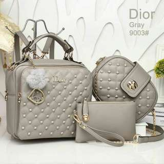 Dior 3 in 1 Grey Bags