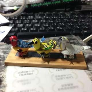 🚚 可愛三隻鳥磁鐵擺飾