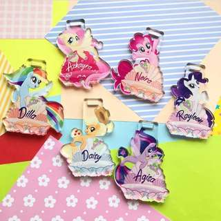 CUSTOM BAG TAG ACRYLIC TAG LUGGAGE TAG my little pony
