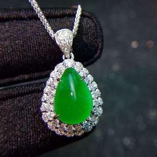 18K白金 哥倫比亞祖母綠 鑽石項鍊