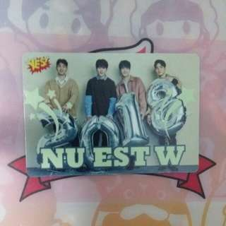 《Yes》30th yescard - NU'EST 夜光 #3004(L)
