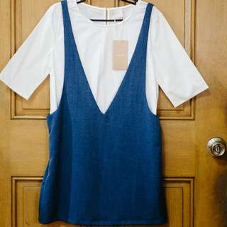 Iora Pinafore dress