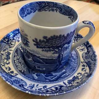 Blue Spode cup & saucer set