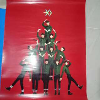 Free Postage 3 piece EXO Official Posters in tube