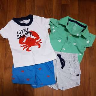 2 Sets of Baby Boy Clothes by Carter's
