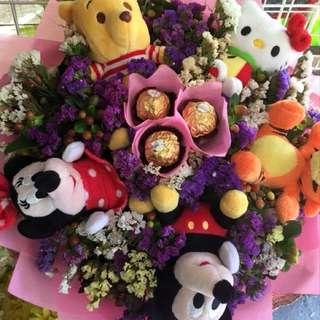 Stuffed toy with Ferrero Bouquet