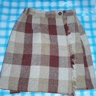 Mini skirt bahan flanel