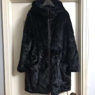 Army by yves salomon mink coat reversible used 98% new (原價$39900)