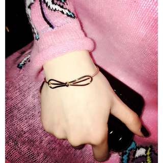 Rose gold ribbon bracelet