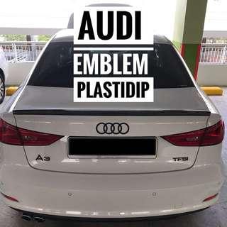 Audi A3 Emblem Plastidip Mobile Service Plasti Dip