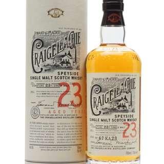 CRAIGELLACHIE 23 Whisky 美國橡桶單一麥芽威士忌