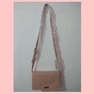 New Miniso sling bag mini peach