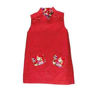Two-Way Polka Dot/Floral Cheongsam