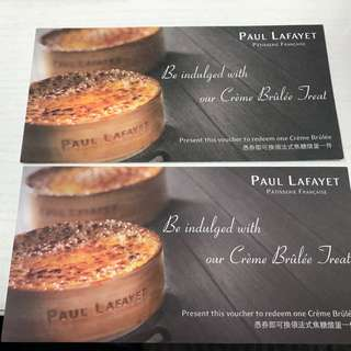 Paul Lafayet的法式焦糖燉蛋券2 張