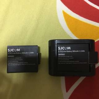 Sjcam charger and two spare batteries