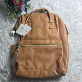 Anello Leather Backpack - Large - Tan