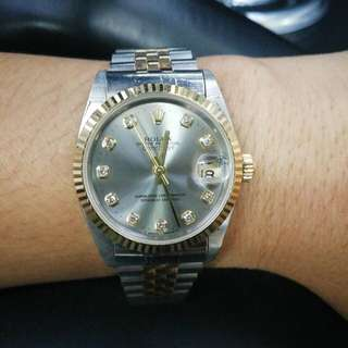 Rolex with Diamonds OYSTER PERPETUAL YEAR 2003