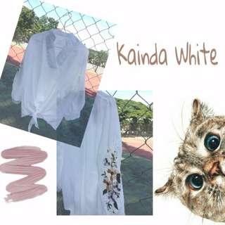 blouse white bunga
