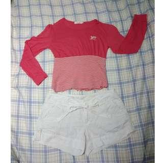 🚚 YAP拼接材質粉色輕質短版上衣