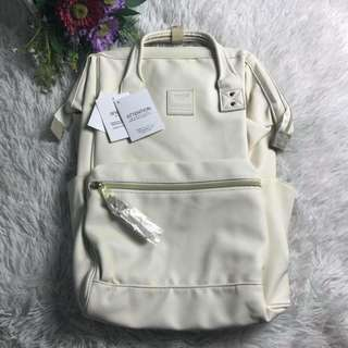 Anello Leather Backpack - Large - White