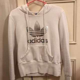 adidas hoodie 衛衣 白色