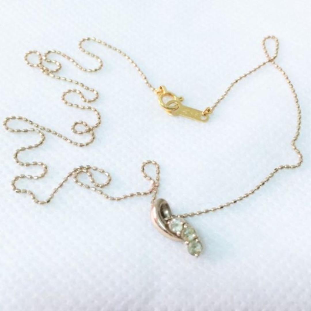 日本知名頂級珠寶4度C 4゚C 18K金 玫瑰K金 海水藍寶 寶石 項鍊 細鍊 附保證書 K18