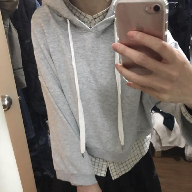 國外購入6ixty8ight灰色刷毛帽T