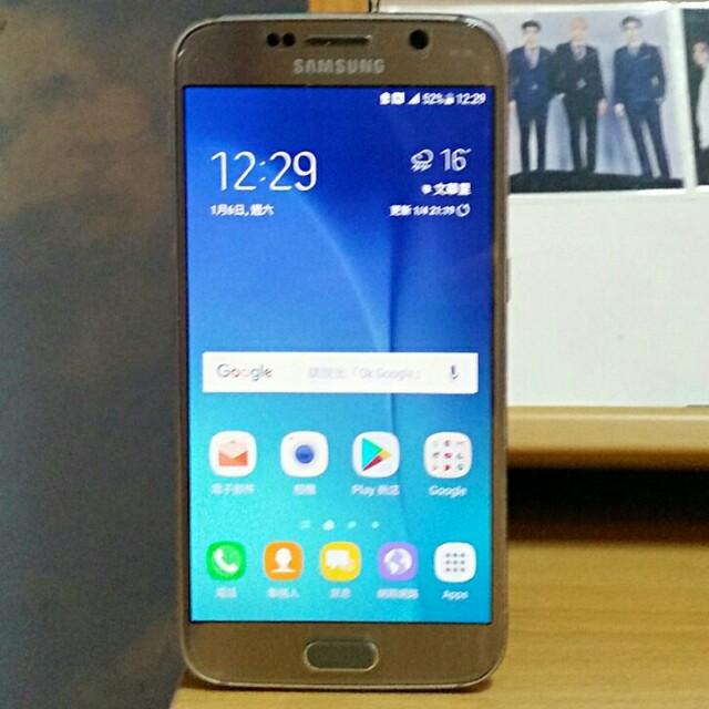 92%新 Samsung Galaxy S6 Gold