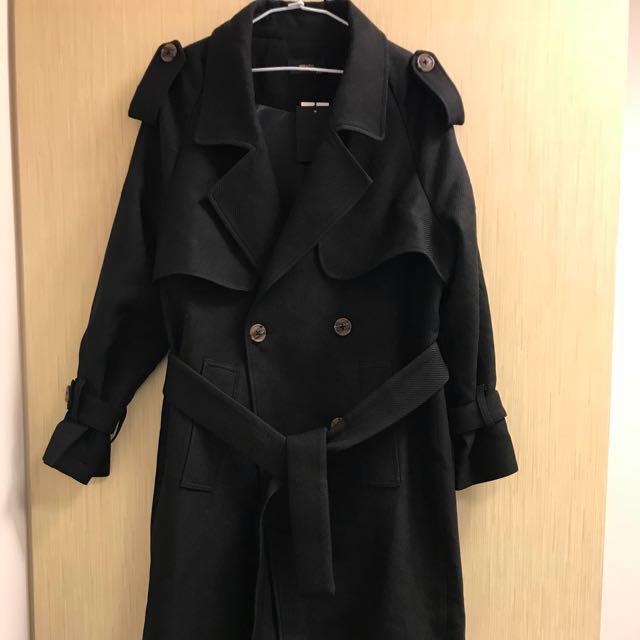 (全新)冬季新款黑色大衣《🉑️議》