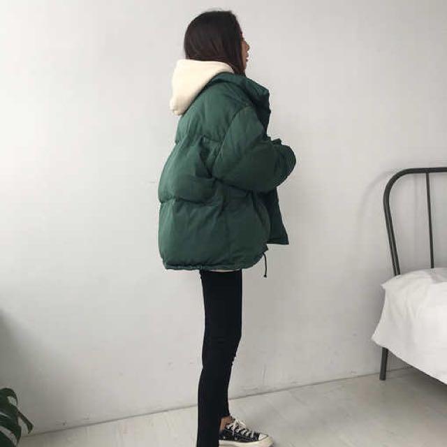 小棉被超暖外套-綠色