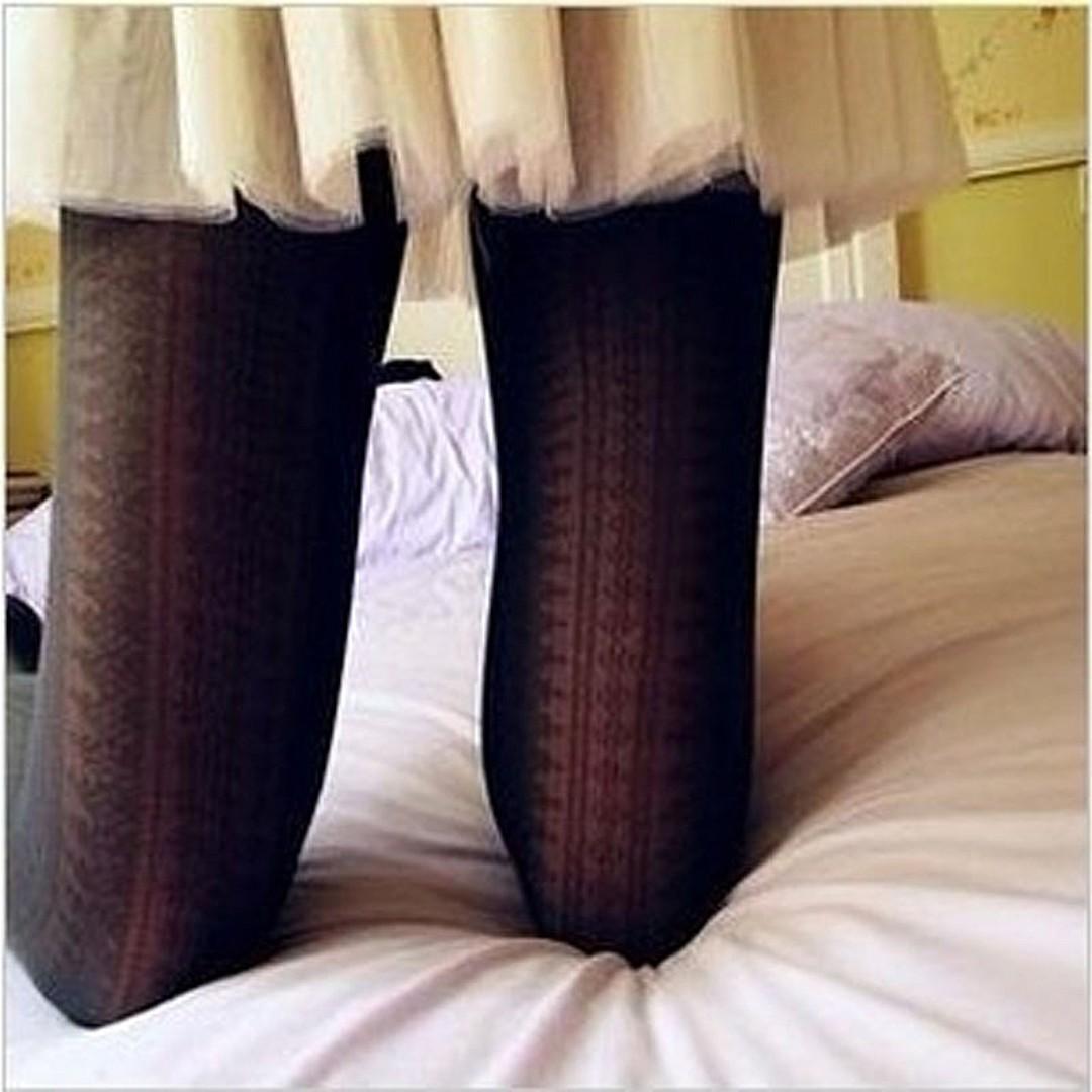 日韓系復古蕾絲公主風連褲襪