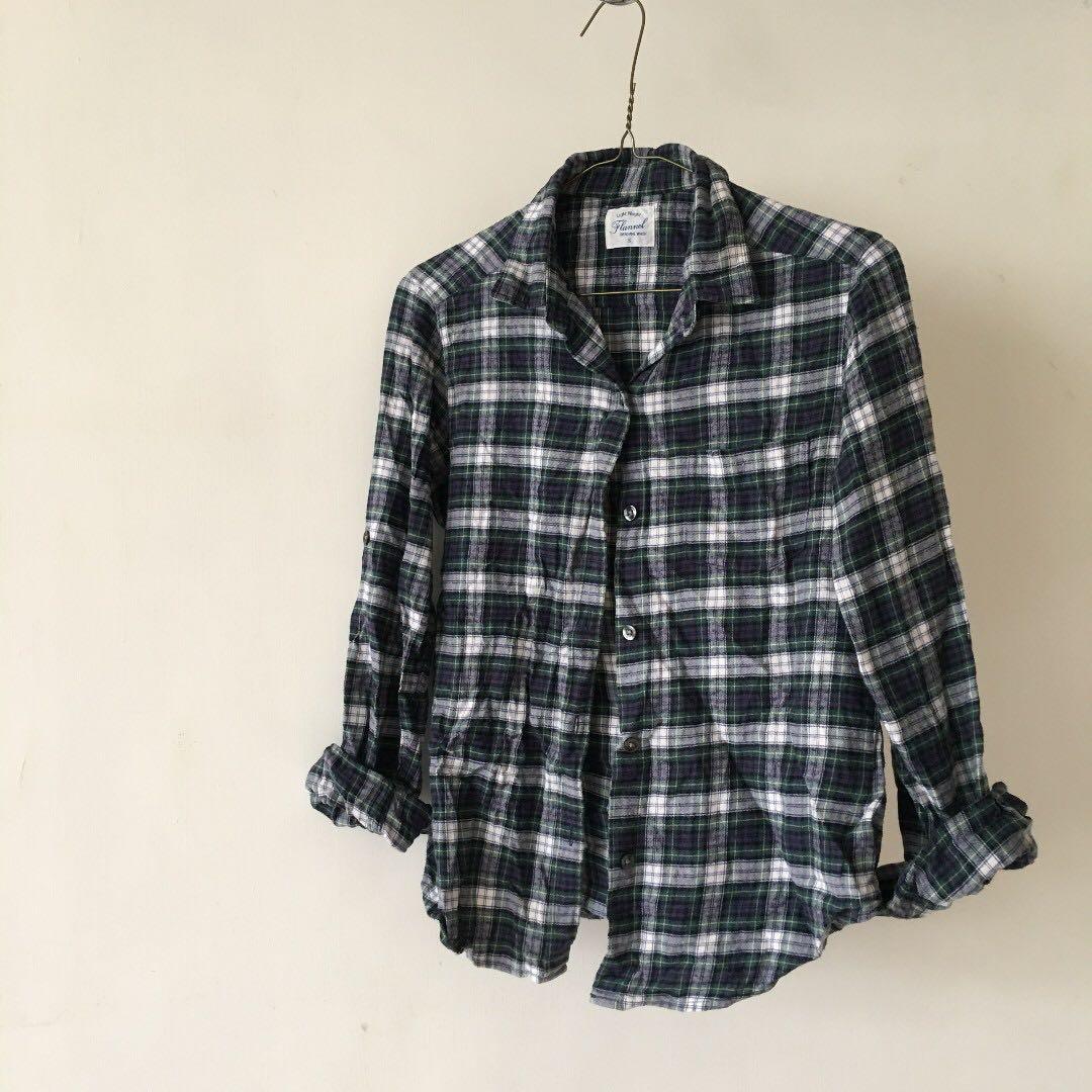 日本購入 率性格紋襯衫   #冬季衣櫃出清