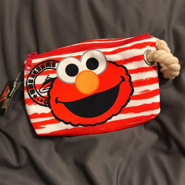 芝麻街化妝包 筆袋 小包包