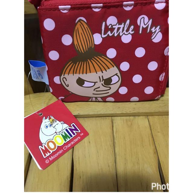 日本限定 嚕嚕米 可愛票卡夾零錢包 正版