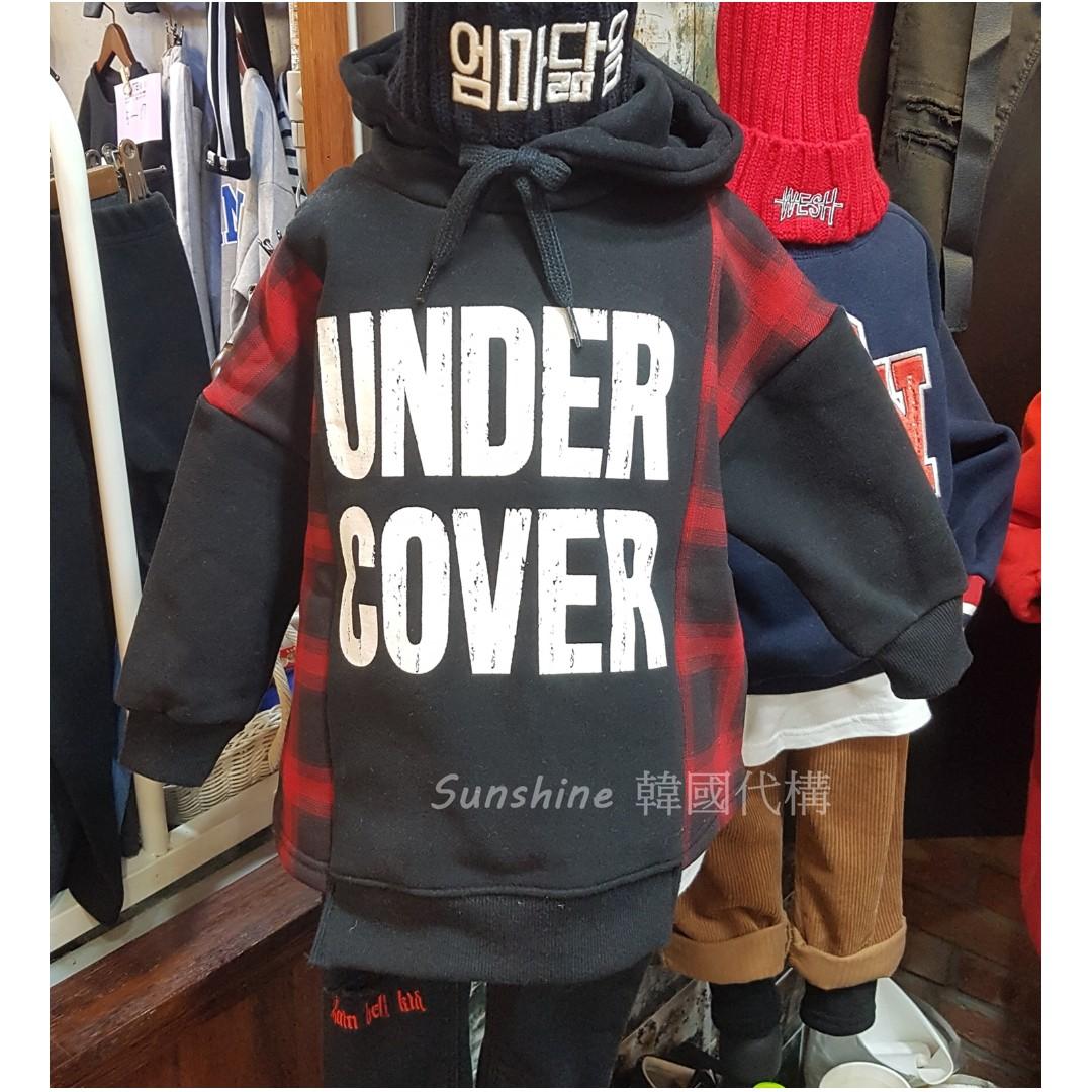 限量現貨 韓國製 童裝 鋪棉格子連帽衣