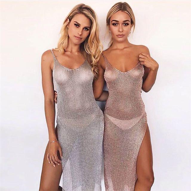 📬💌 Crochet Bikini Cover Up Dress