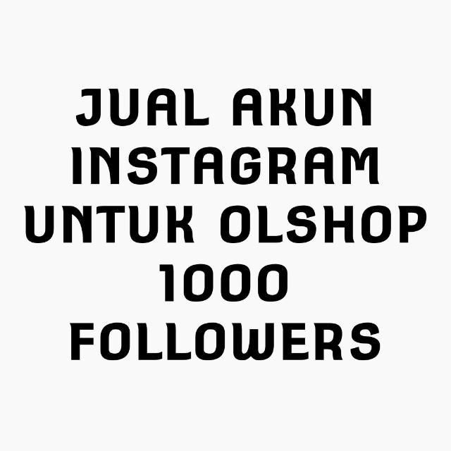 Akun Instagram 1300an Followers