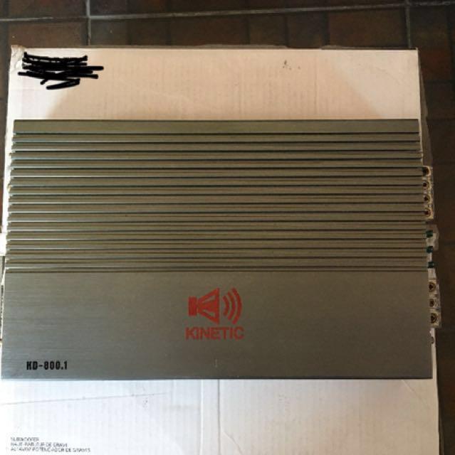 Amplifier Kinetic Kd-800.1 Mono