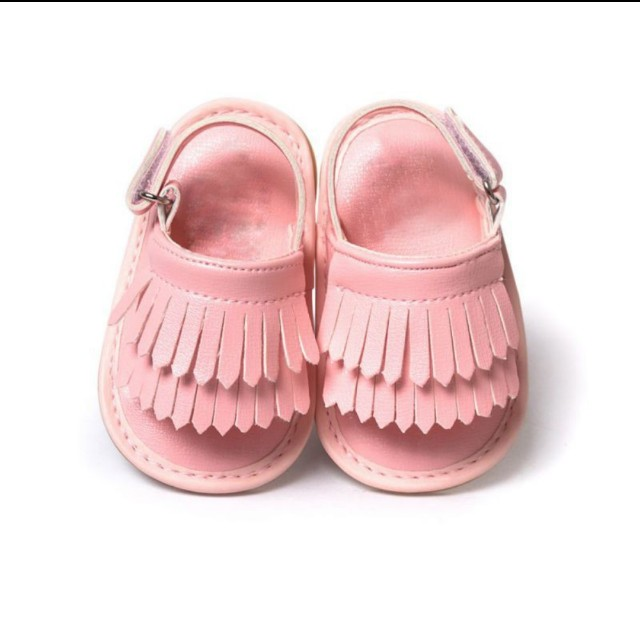 Baby Tassel Crib Shoes - Pink