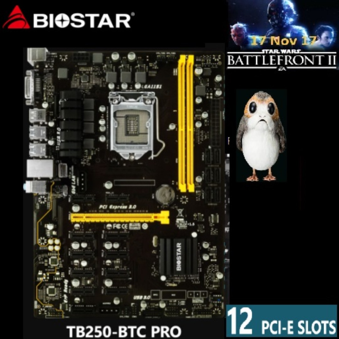Biostar Tb250 Btc Pro For Mining 12 Gpu Electronics Computer Mobo Parts Accessories On Carousell