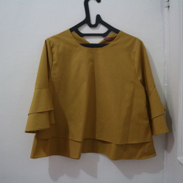 Blouse kuning no brand