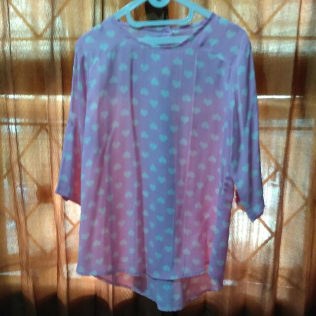 Blouse Pink Love