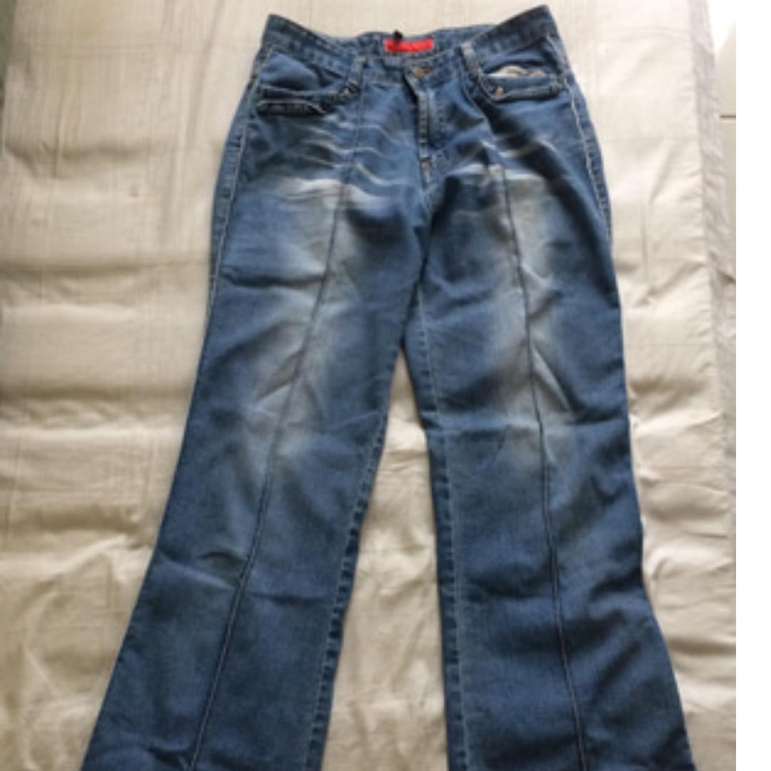 Blue Stripped Denim Pants