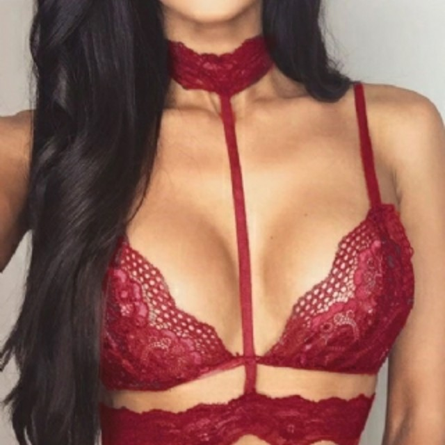 Bralette with Lace Choker