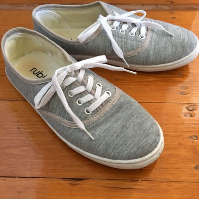 Bright grey sneakers