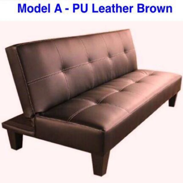 Brown Pu Leather Sofa Bed Furniture